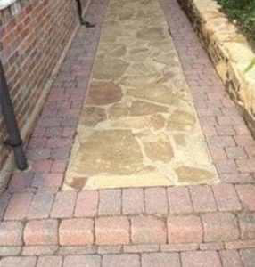 Pressure Washed Path