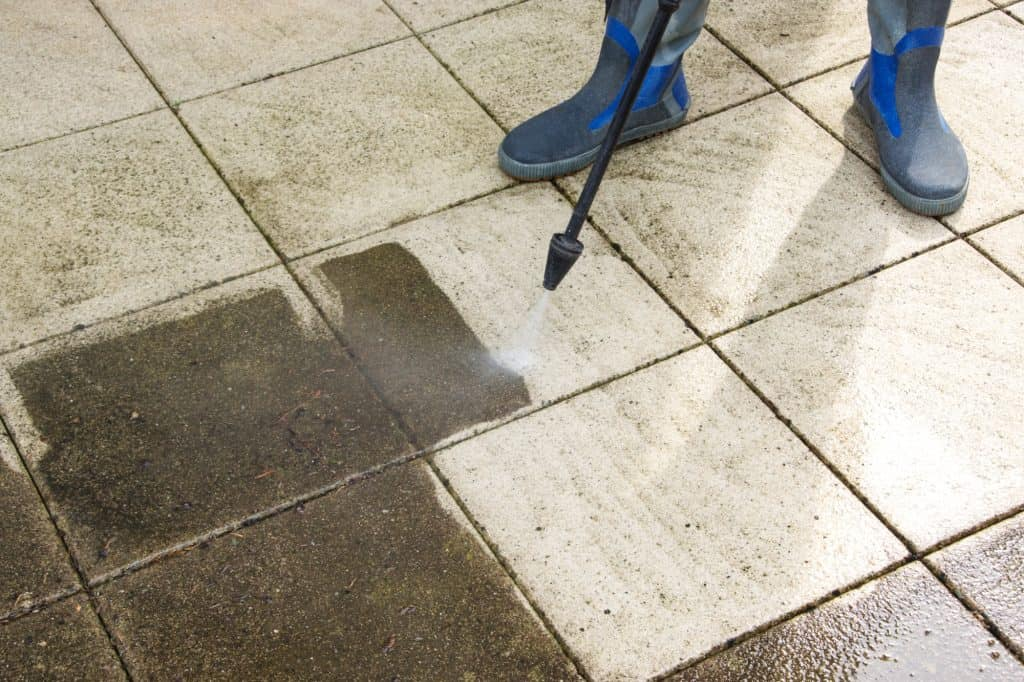 Steam Cleaning Patio