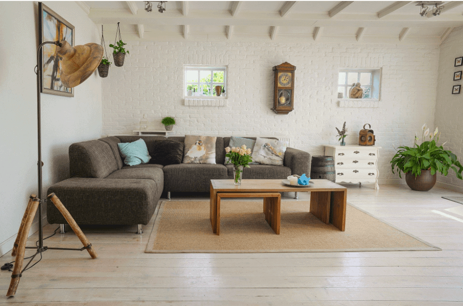 A view of a living room