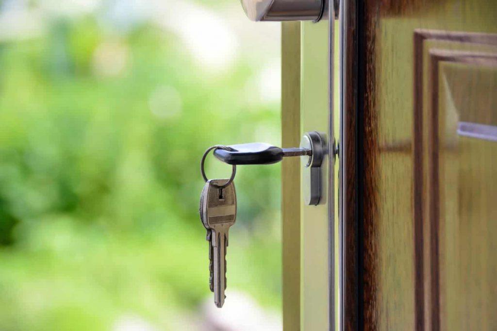 Key in lock & open door